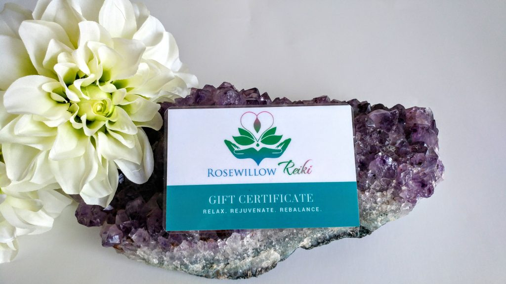 Rosewillow Reiki Gift Certificates